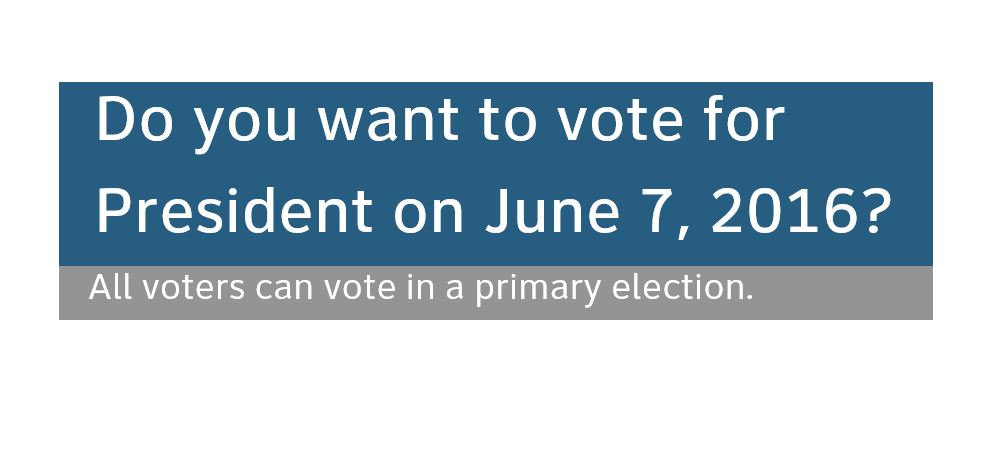 Do you want to vote for President on June 7, 2016