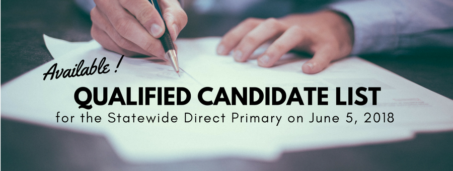 Qualified Candidate List